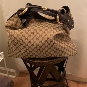 Authentic Gucci Large Horsebit Hobo